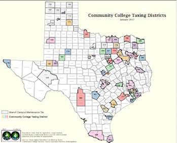 College District Maps | Texas Association of Community Colleges