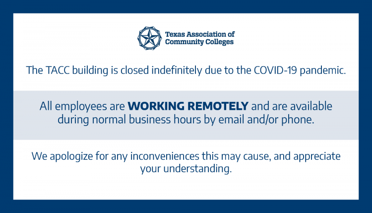 TACC Offices closed