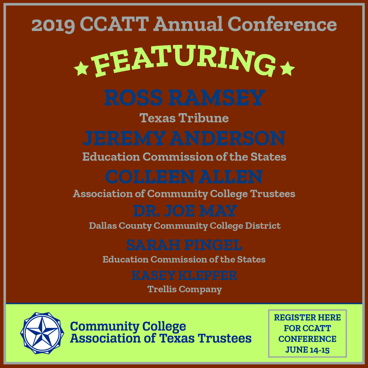 CCATT Conference Speakers