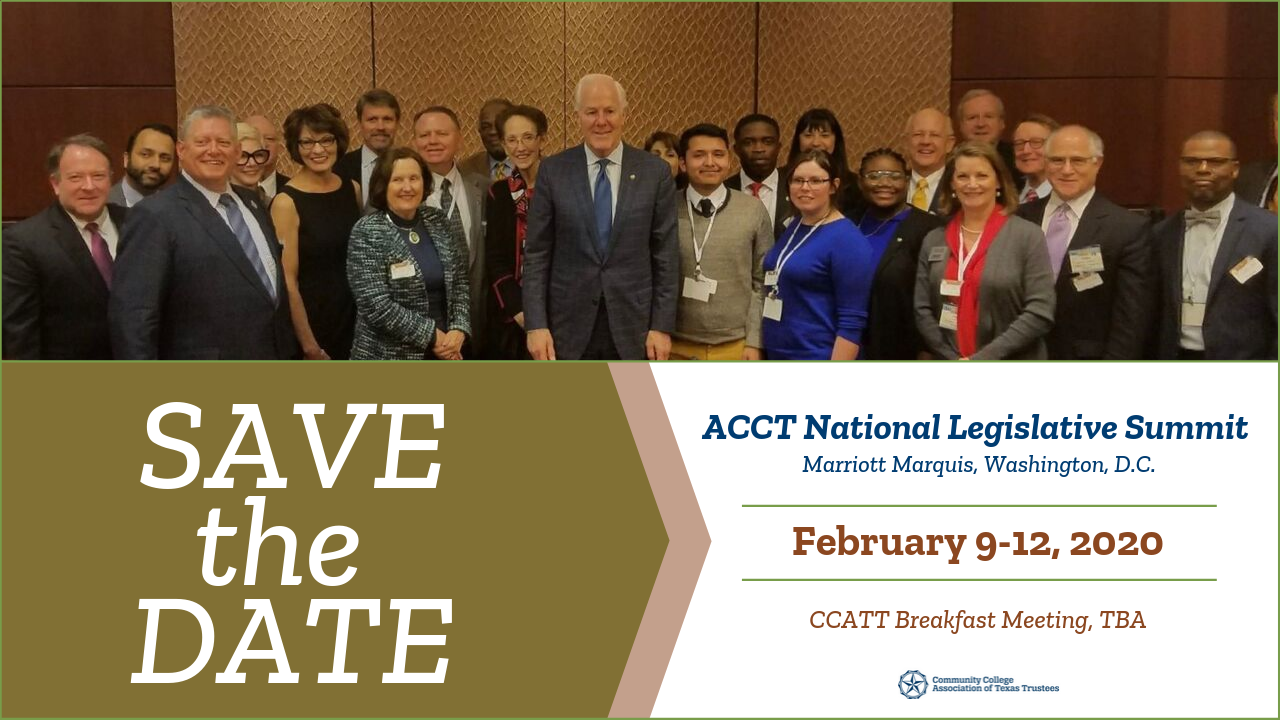 Save the Date - ACCT National Leg. Summit